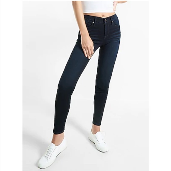 Express Mid Rise Supersoft Jeans SHORT